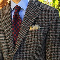 Challis tie and Tweed jacket Men's Suits, Dress Suits, Men Dress, Sharp Dressed Man, Well Dressed Men, Plaid Jacket, Jacket Style, Mens Tailored Suits, Smart Casual Menswear