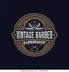 Find Barbershop Logo Vintage Classic Style Salon stock images in HD and millions of other royalty-free stock photos, illustrations and vectors in the Shutterstock collection. Barber Logo, Barber Shop, Custom Logo Design, Custom Logos, Style Salon, Badge Icon, Barbershop Design, Stock Image, Stamp