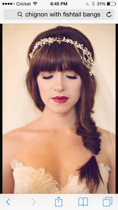 Bridesmaids hair only with baby's breath crown
