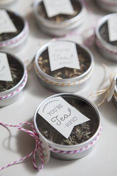 "DIY: ""You're TEA-riffic"" wedding tea favors!"