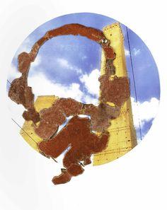 veronica guiduzzi, GLI OCCHI DI BOLOGNA skin and pieces of tipical bologna's stretch find in a street, 2002
