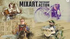 MixArt - Sketch Painting Photoshop Action Tutorial