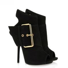 68.00$  Watch now - http://ali9vq.shopchina.info/1/go.php?t=32787769872 - Fashion Women Shoes Ankle Sandal Boots 2017 Peep Toe Buckle Strap Spring/Autumn Zipper Thin High Heels Solid Black/Red Free Ship 68.00$ #SHOPPING