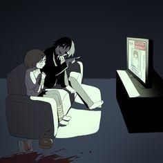 Dark Art Illustrations, Dark Art Drawings, Illustration Art, Sad Anime, Anime Guys, Sun Projects, Vent Art, Arte Obscura, Stray Dogs Anime