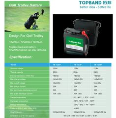 LiFePO4 Lithium Battery For Golf Trolley.