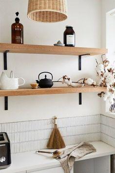 boho kitchen ideas Sweet Corner, Old Apartments, Kitchen Trends, Kitchen Ideas, Shag Carpet, Boho Kitchen, Linen Sheets, Australian Homes, Interior Design Studio