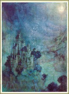 El castillo de hadas. Edmund Dulac por DandDDigitalDelights