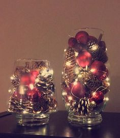 110 Cheap and Easy DIY Christmas Decor Ideas that proves Elegance is not Expensive - Hike n Dip Thinking about elegant and classy Christmas Decorations which won't cost you much. Look here for inspiring Cheap and Easy DIY Christmas Decor Ideas here. Christmas Mantels, Noel Christmas, Christmas Ornaments, Christmas 2019, Christmas Fairy Lights, Christmas Candle, Christmas Villages, Christmas Christmas, Diy Christmas Decorations Easy