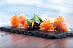 Salmon, rocket, horseradish with creme fraiche  #thedockplymouth #goodfood #Plymouth #restaurant #Devon #Kingpointmarina