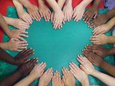 Heart - student hands photograph - LOVE!