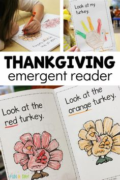 A free printable book about Thanksgiving and turkeys! This emergent reader is perfect for preschool or kindergarten this November. A fun way to build early literacy skills by using the excitement of the holiday season! Preschool Lesson Plans, Free Preschool, Preschool Printables, Preschool Classroom, Free Printables, Kindergarten, Free Thanksgiving Printables, Thanksgiving Preschool, Literacy Skills
