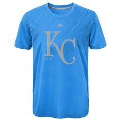 Kansas City Royals Boys Geo Fuse Fade CoolBase T-Shirt