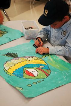 Fishback Creek Public Academy Art Room: Fishback First Grade Fish