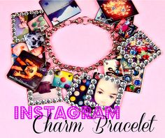 Instagram Charm Bracelet DIY.  Now you can wear those memories around your wrist and show people what a HAM you are!