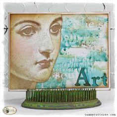 Stamped Wash Background