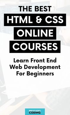 Learn web development for beginners with the best HTML and CSS courses. Perfect for an introduction to HTML and CSS and front-end development for beginners. Online Coding Courses, Coding Websites, Learning Websites, Learn Web Design, Online Web Design, Design Web, Flat Design, Learn Programming, Computer Programming