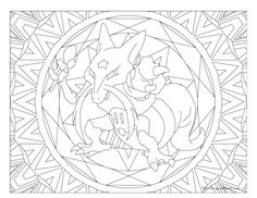 Adult Pokemon Coloring Page Kadabra