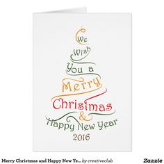 Merry Christmas and Happy New Year design Card
