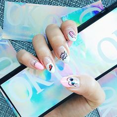 Here's a random fact. I can't paint my nails. More random facts about me on my channel emojiemoji #nailart #koreannailart - See more at: http://iconosquare.com/viewer.php#/detail/1037799129131665666_15406681