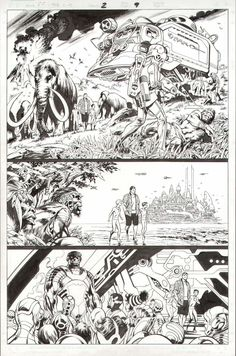 This is page 9 from Fantastic Four: The End #2, drawn by Alan Davis.