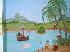 Ζωγραφική παιδικού δωματίου Πήτερ Παν