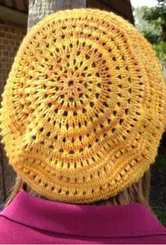 Resplendence Beret by Mindy Vasil.  In one of the new Swish Tonals - Goldrush.