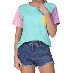 2017 SUMMER STYLE FASHION WOMEN HARAJUKU PATCHWORK T SHIRTS KAWAII CASUAL COTTON SPELL COLOR PATCHWORK DE MUJER FREE SHIPPING  Get Designer Clothing and Fashion Accessories at 90% Off Wholesale! @ http://myug.io/g/27570  #fashion #Womens #women #Deals Get 100 Free Fashion and Beauty Tips -> http://myug.io/g/26902