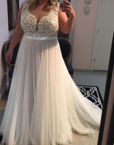 You can have plus size wedding dresses like this made to order with any design changes you want by our company.  We are in the USA and offer brides affordable #weddingdresses they can customize to their personal taste and body shape. If you are on a tight budget and love a couture dress we can also make #replciadresses for you that are inexpensive. Contact us for pricing at www.DariusCordell.com