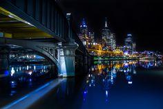 The Yarra, Melbourne, Australia Places Around The World, Around The Worlds, Melbourne Skyline, Night City, Melbourne Australia, After Dark, Sydney Harbour Bridge, City Lights, Places To Travel