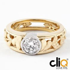 This uniquely beautiful 18k yellow gold and platinum custom engagement ring was inspired by a Hungarian floral pattern and a very lucky (and patient) lady. #lovefits