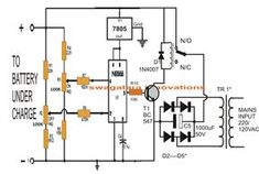 electronic circuit projects self regulating automatic lead acid rh pinterest com