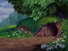 Empty Backdrop from Alice in Wonderland - disney-crossover Screencap