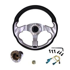 Golf Carts Ideas   ProFit PF11346PKG EZGO TXT Steering Wheel with Adapter 13 SilverChrome *** You can find more details by visiting the image link. Note:It is Affiliate Link to Amazon. #l4l