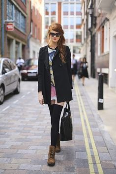 street style | Thigh-High Socks and Combat Boots