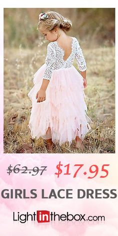 Kids Girls' Basic Daily Solid Colored Lace / Layered Long Sleeve Cotton / Polyester Dress Red $17.95 (71% off) White Long Sleeve Dress, White Dress, Dress Red, Grad Dresses, Bridesmaid Dresses, Wedding Dresses, Girls Lace Dress, Flower Girl Dresses, Dress Girl