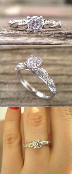 White Gold And Diamond Engagement Ring / http://www.himisspuff.com/engagement-rings-wedding-rings/2/