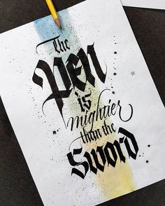 Am sure everyone agrees to this #gothic #sundaylettering #calligraphymasters