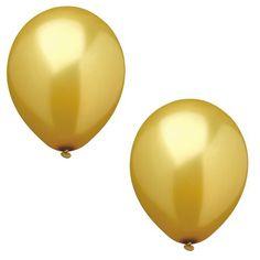 Tolles Luftballonset in gold als perfekte Dekoration für eine Hochzeit, Party oder auch zur Goldenen Hochzeit. Luftballonset uni gold bei www.party-princess.de