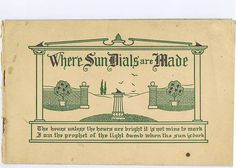 Antique Vintage Garden Sun Dials Illustrated by chemindesmuguets, $20.00
