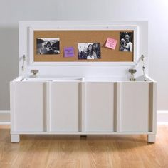 Comfort Products Cork Filing Trunk with Organizer Tray, White