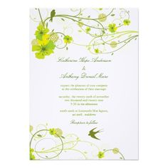 Shoppingfatfatin Green Hibiscus Swirls & Swallows Wedding Personalized InviteYes I can say you are on right site we just collected best shopping store that have