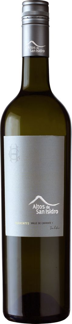 """2011 ALTOS DE SAN ISIDRO, TORRONTES, CAFAYATE, SALTA, ARGENTINA """"Light golden color, showing off ripe stone fruits, fresh herbs, rose petal, and white pepper. It all follows through vibrantly on the palate and finishes clean with a punch of acidity and spice."""""""