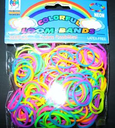 Tie Dye Rainbow Loom Rubber Bands OrnamentPeace by lollipatch