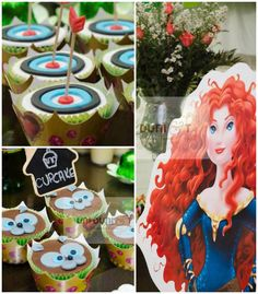 Brave themed birthday party Cakes, printables, favors, invitations, and MORE! Disney Birthday, Girl Birthday, Princess Birthday, 4th Birthday Parties, Birthday Ideas, Theme Parties, Disney Princess Party, Festa Party, Hello Kitty Birthday