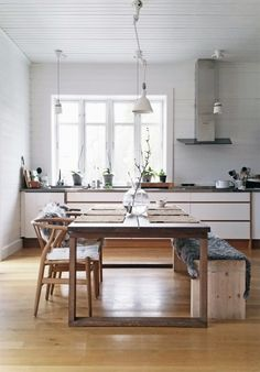 STIL INSPIRATION | New IKEA table Mörbylånga and Wishbone chairs