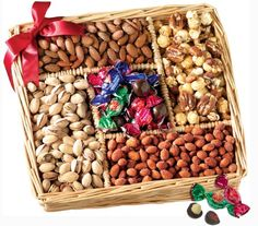 Broadway Basketeers Gourmet Sweet and Savory Nut Gift Basket for the Holidays The perfect snack gift with an abundance of salted and roasted pistachios and Gift Baskets For Men, Gourmet Gift Baskets, Christmas Gift Baskets, Gourmet Gifts, Gourmet Recipes, Gourmet Foods, Fruit Gifts, Food Gifts, Honey Roasted Peanuts