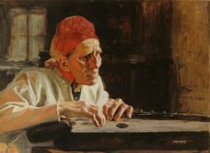 PaintingDb view of Larin Paraske laulaa itkuvirsiä I by Edelfelt, Albert. Prinz Eugen, North Europe, Legion Of Honour, Romanticism, Art Music, Old Women, Oil On Canvas, Singing, Culture