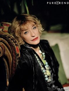The late Loulou de la Falaise - muse,  jewelry and accessories designer for Yves Saint Laurent.