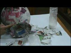 Como realizar un jarron de carton. 1era. parte.How to make a vase of cardboard 1st. part - YouTube