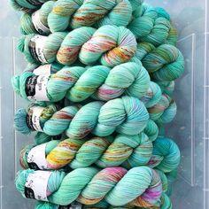 Mint Julep, April Sock club colourway. #clubyarn #club #hedgehogfibres…